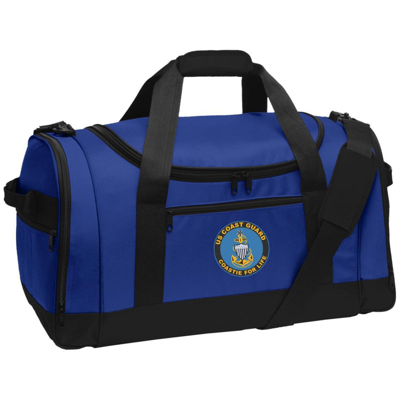 US Coast Guard E-8 Senior Chief Petty Officer E8 SCPO Chief Petty Officer Collar Device Coastie For Life Embroidered Duffel Bag