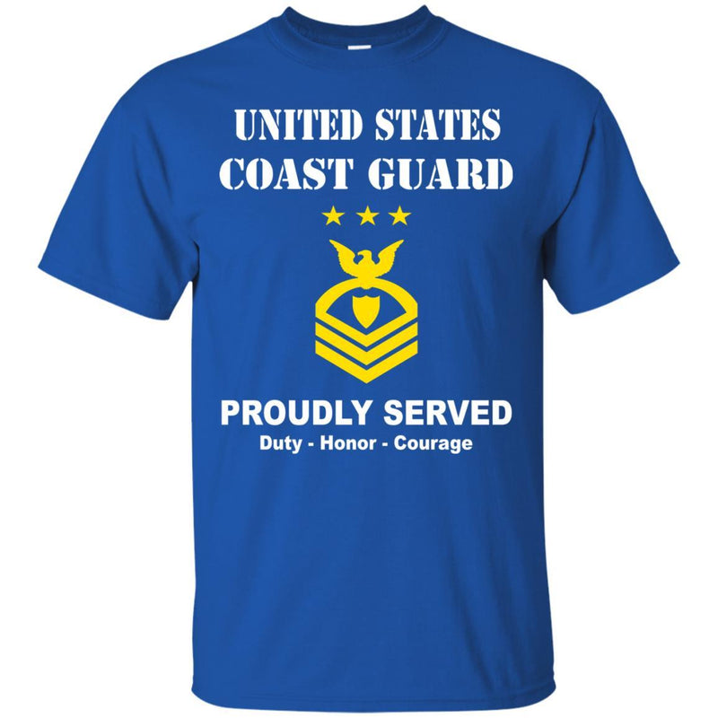 US Coast Guard E-9 Master Chief Petty Officer Of The Coast Guard E9 MCPOC Chief Petty Officer (Special) Men Front USCG T Shirt
