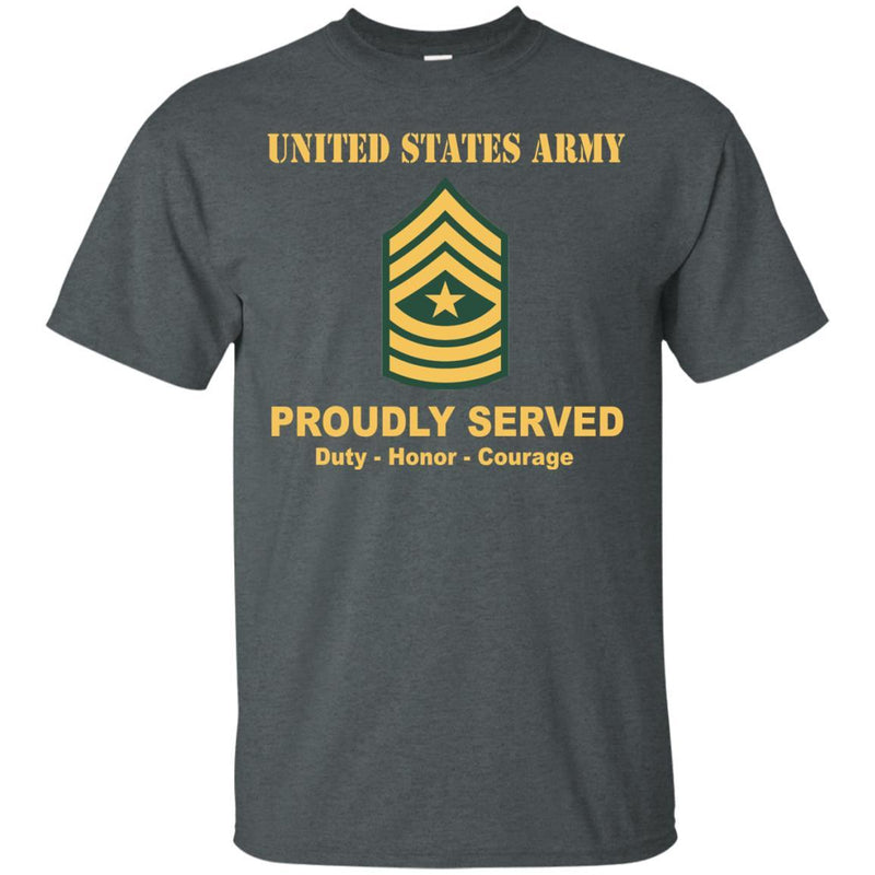 US Army E-9 Sergeant Major E9 SGM Noncommissioned Officer Ranks Men Front Shirt US Army Rank