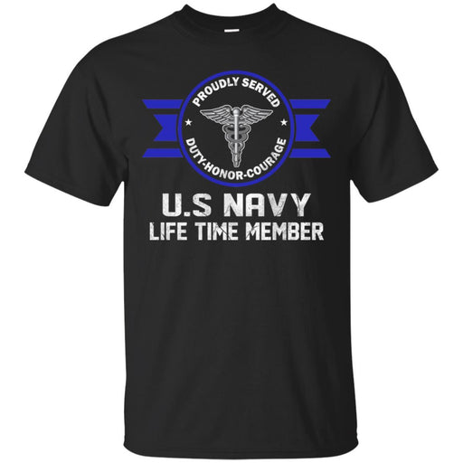 Life Time Member - US Navy Hospital Corpsman HM Men T Shirt On Front
