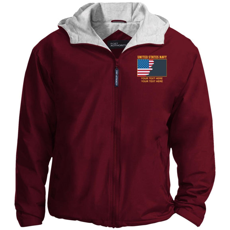 US Navy Collar Device - Personalized Embroidered Port Authority® Team Jacket