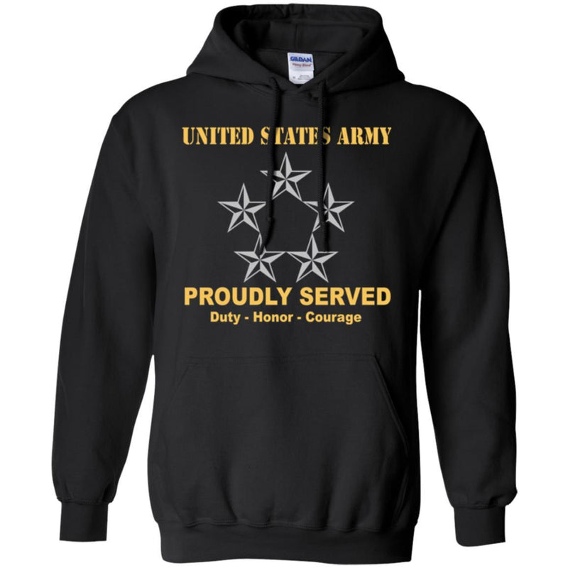 US Army O-10 General of the Army O10 GA General Officer Ranks Men Front Shirt US Army Rank