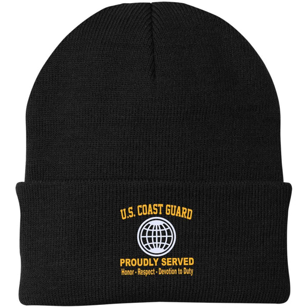 US Coast Guard Electrician's Mate EM Logo Embroidered Port Authority Knit Cap