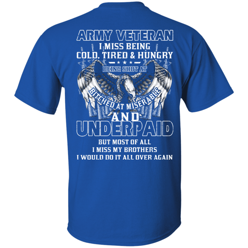 Army Veteran Underpaid Miss My Brothers Men Back T Shirts