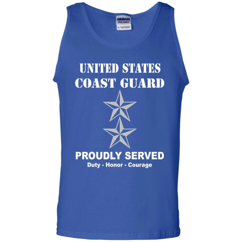 US Coast Guard O-8 Rear Admiral O8 RADM Flag Officer Men Front USCG T Shirt