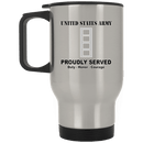 US Army W-4 Chief Warrant Officer 4 W4 CW4 Warrant Officer Ranks White Coffee Mug - Stainless Travel Mug