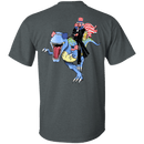 "Military T-Shirt ""Lincoln Dinosaur Beer Merica Flag Back"""