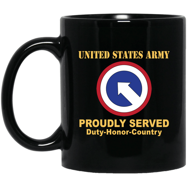 US ARMY 1ST SUSTAINMENT- 11 oz - 15 oz Black Mug