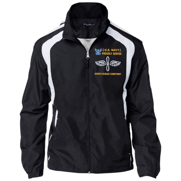 US Navy Aviation Machinist's Mate AD - Proudly Served-D04 Embroidered Sport-Tek Jersey-Lined Jacket