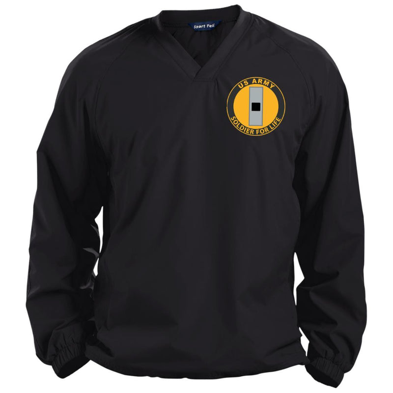 US Army W-1 Warrant Officer 1 W1 WO1 Soldier For Life Embroidered Sport-Tek Pullover V-Neck Windshirt