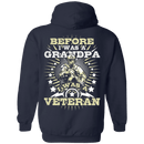 Before I was a Grandpa I was a Veteran - Men Back T Shirt