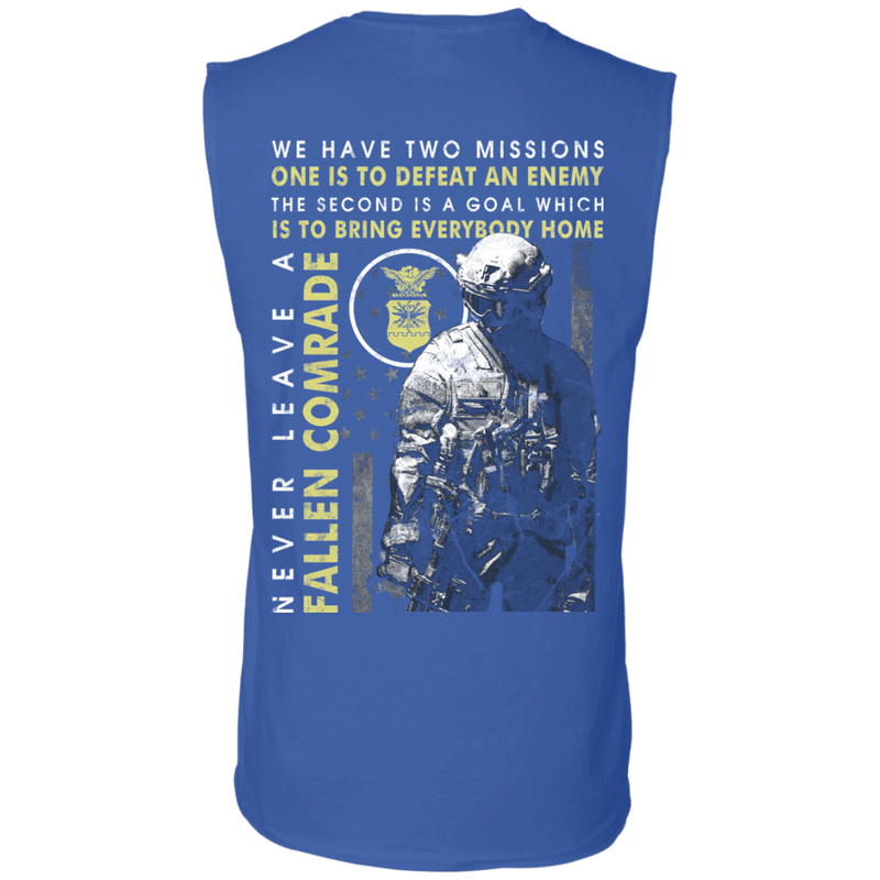 Never Leave A Fallen Comrade Air Force Men Back T Shirts