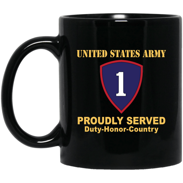 US ARMY 1ST PERSONNEL COMMAND- 11 oz - 15 oz Black Mug