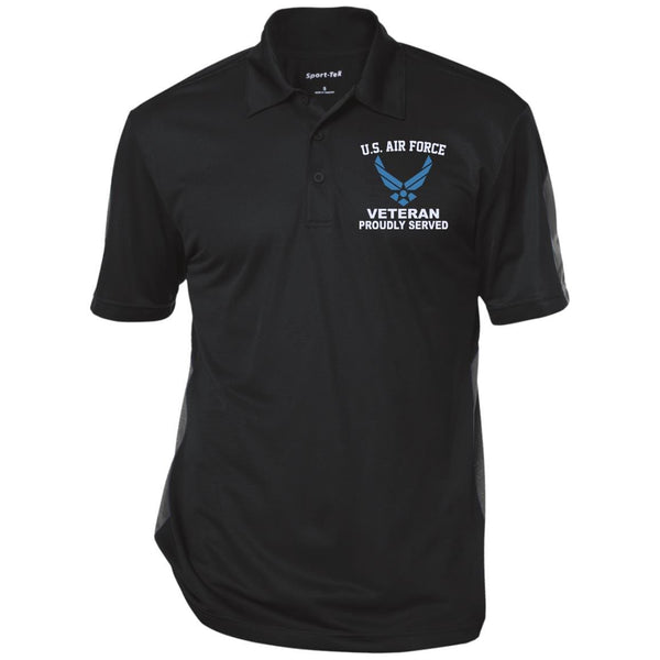 US Air Force Logo Veteran Embroidered Polo Shirt