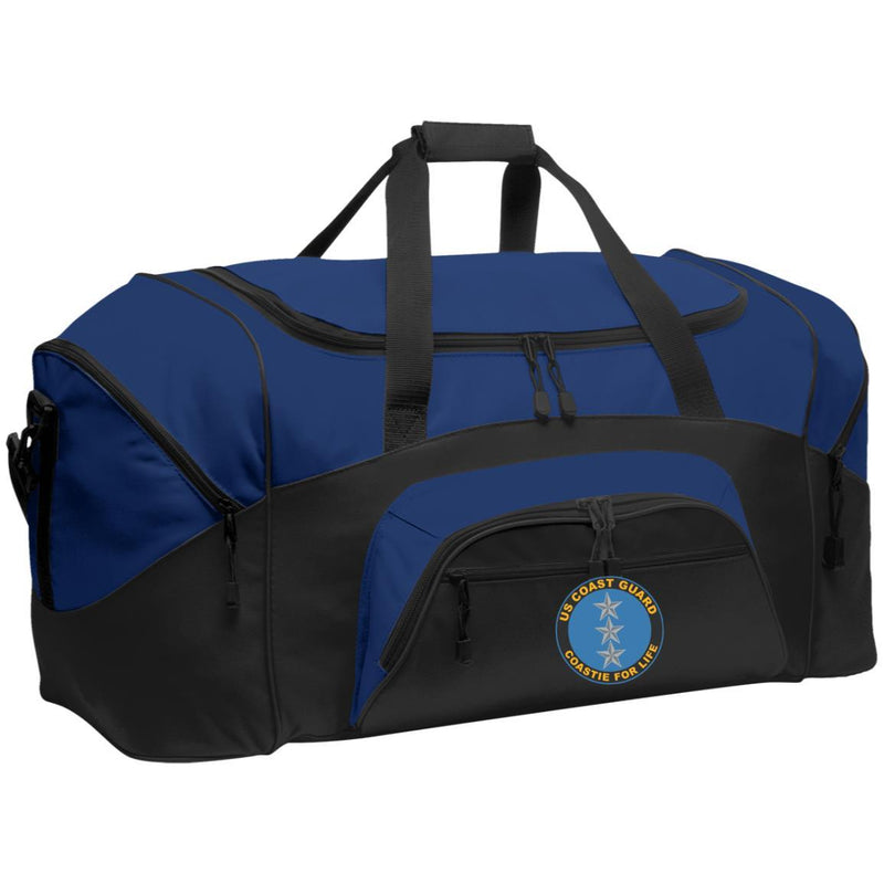 US Coast Guard O-9 Vice Admiral O9 VADM Flag Officer Coastie For Life Embroidered Duffel Bag