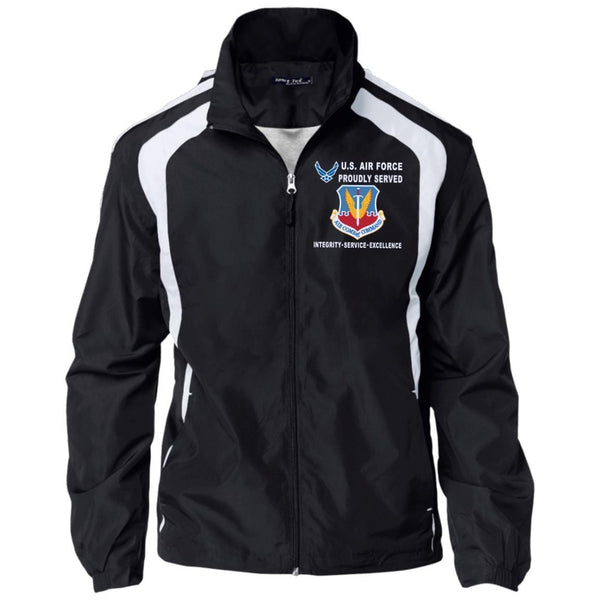 US Air Force Air Combat Command Proudly Served-D04 Embroidered Sport-Tek Jersey-Lined Jacket