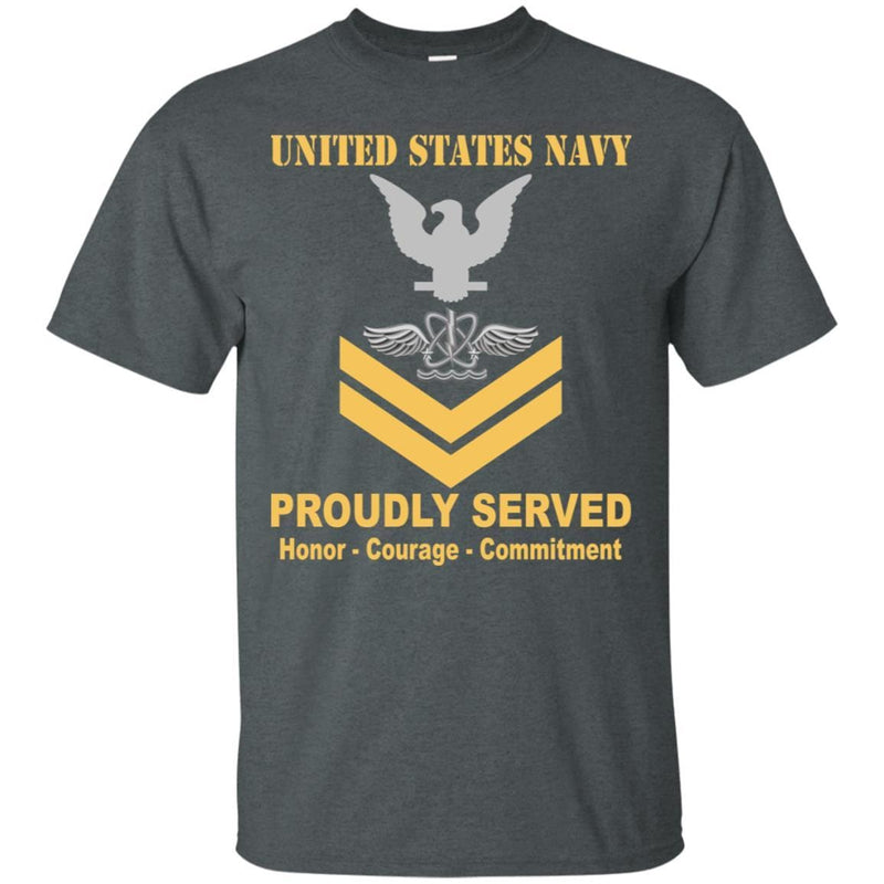U.S Navy Naval aircrewman Navy AW E-5 Rating Badges Proudly Served T-Shirt For Men On Front