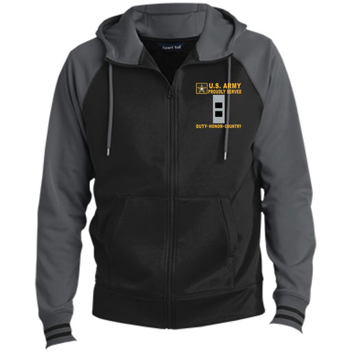 US Army W-2 Chief Warrant Officer 2 W2 CW2 Warrant Officer - Proudly Served-D04 Embroidered Sport-Tek® Full-Zip Hooded Jacket