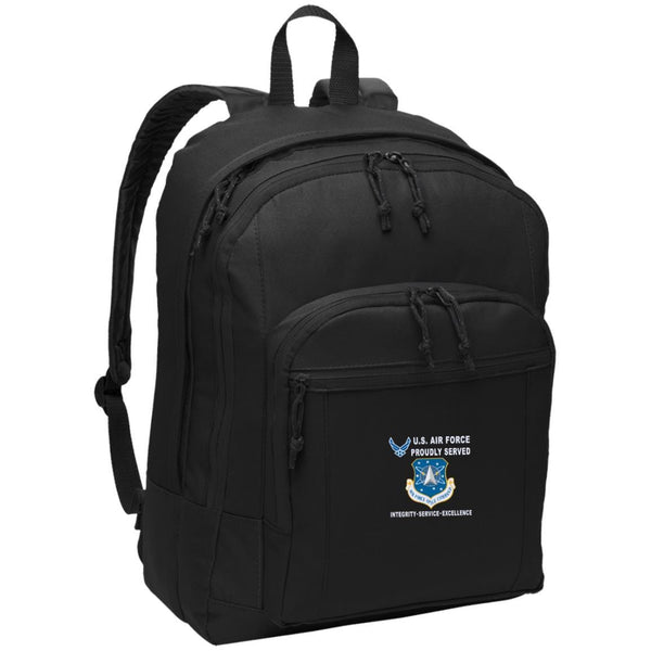US Air Force Space Command Proudly Served-D04 Embroidered Backpack