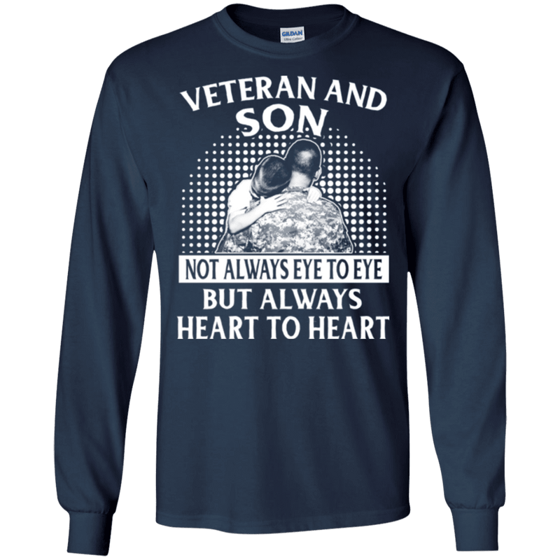 VETERAN AND SON ALWAYS HEART TO HEART T SHIRT