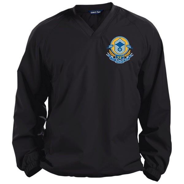 US Air Force E-8 Senior Master Sergeant SMSgt Air Force Birthday 72nd Embroidered Sport-Tek Pullover V-Neck Windshirt
