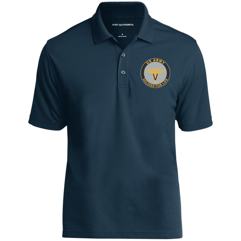 US Army Veterinary Corps Soldier For Life Embroidered Port Authority® Polo Shirt