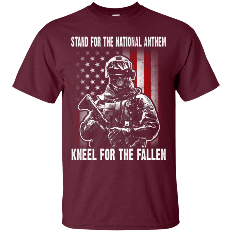Stand For The National Anthem Kneel For The Fallen T Shirt