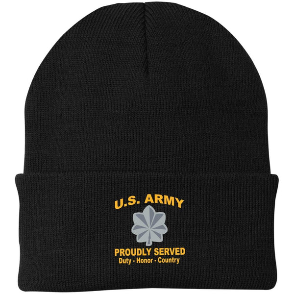 US Army O-5 Lieutenant Colonel O5 LTC Field Officer Proudly Served Military Mottos Embroidered Port Authority Knit Cap