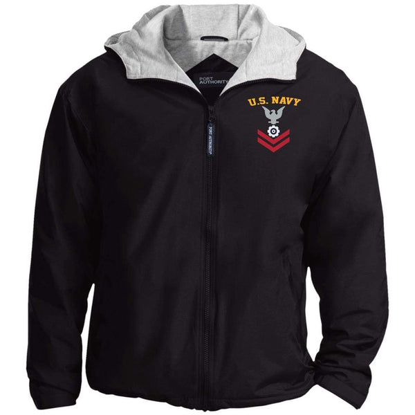 US Navy Engineman EN E-5 Rating Badges Embroidered Port Authority® Hoodie Team Jacket