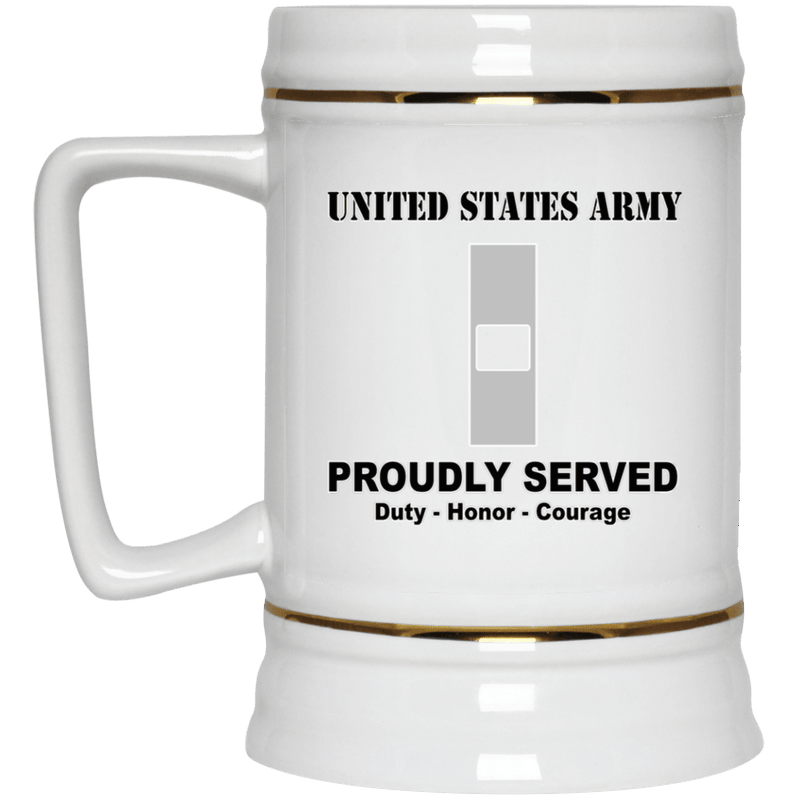 US Army W-1 Warrant Officer 1 W1 WO1 Warrant Officer Ranks White Coffee Mug - Stainless Travel Mug