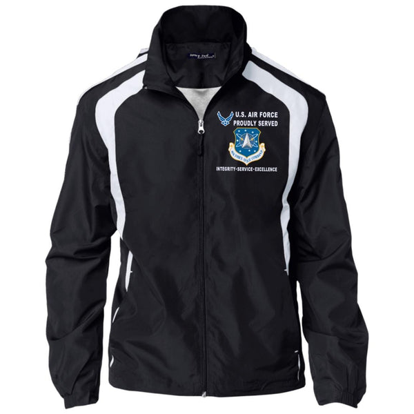 US Air Force Space Command Proudly Served-D04 Embroidered Sport-Tek Jersey-Lined Jacket
