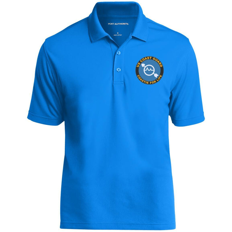 US Coast Guard Operations Specialist OS Logo Coastie For Life Embroidered Port Authority® Polo Shirt