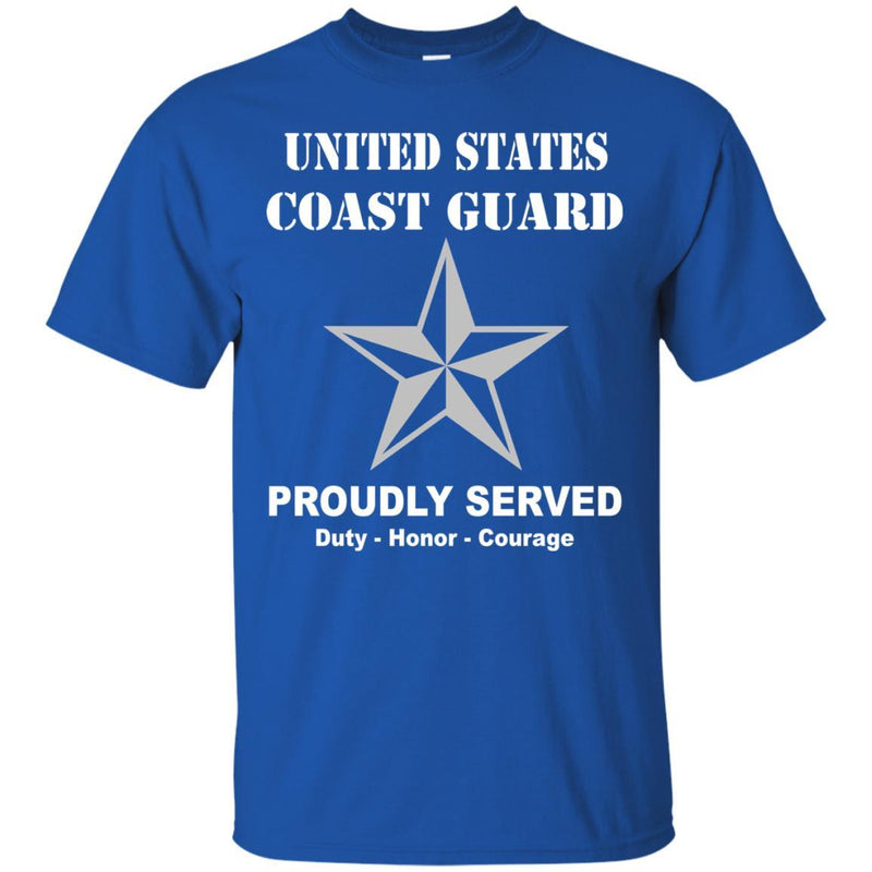 US Coast Guard O-7 Rear Admiral Lower Half O7 DRML Flag Officer Men Front USCG T Shirt