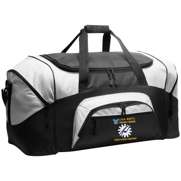 US Navy Data Processing Technician DP - Proudly Served-D04 Embroidered Duffel Bag