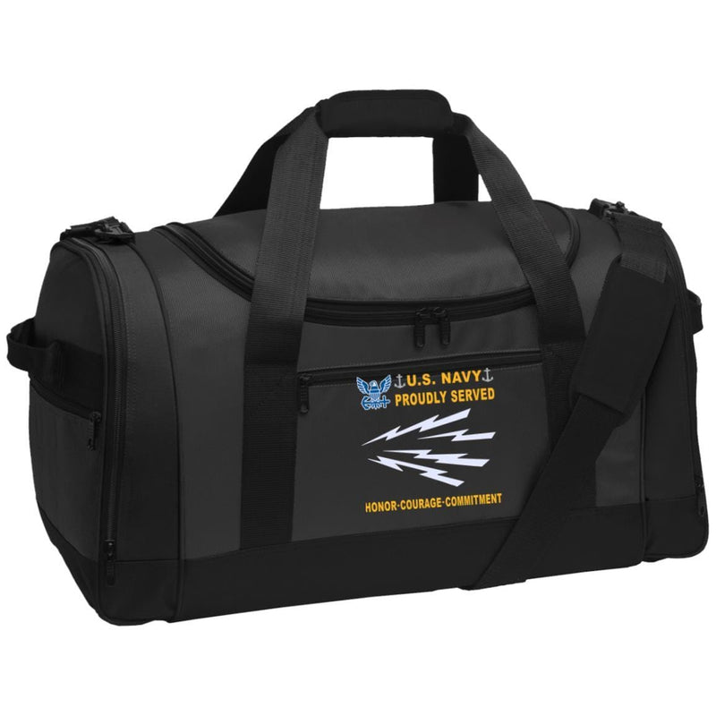 US Navy Radioman RM - Proudly Served-D04 Embroidered Duffel Bag