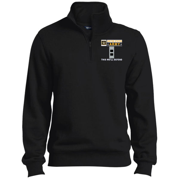 US Army W-2 Chief Warrant Officer 2 W2 CW2 Warrant Officer- This we'll defend Embroidered 1/4 Zip Pullover