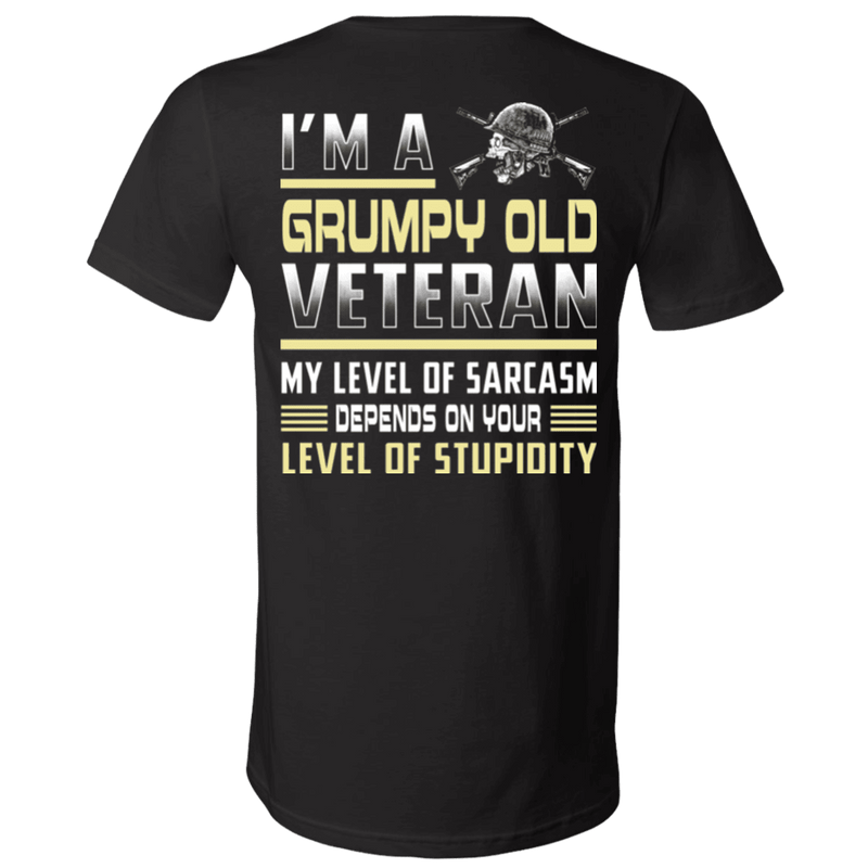 I'm A Grumpy Old Veteran - Men Back T Shirt
