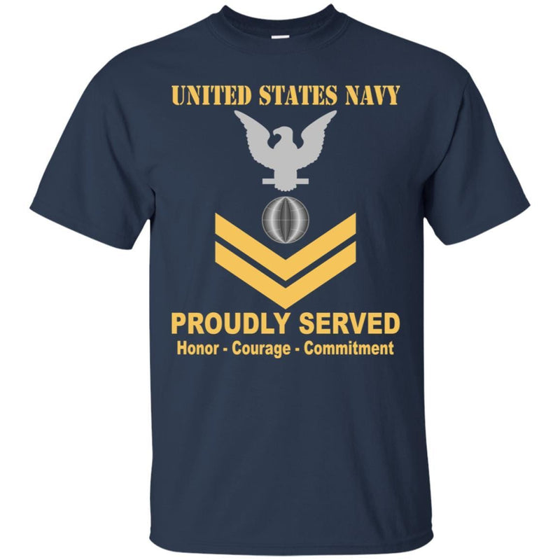 U.S Navy Electrician's mate Navy EM E-5 Rating Badges Proudly Served T-Shirt For Men On Front