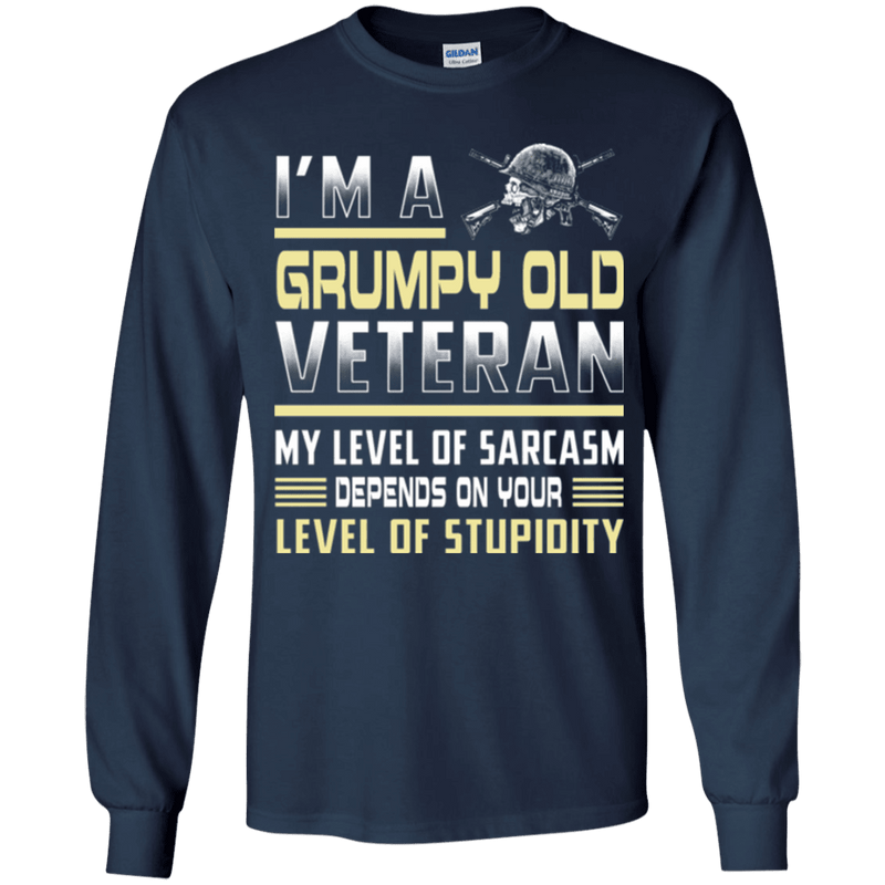 Grumpy Old Veteran - Women Front T Shirt