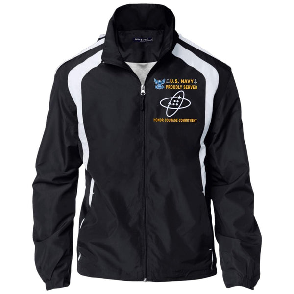 US Navy Electronics Technician ET - Proudly Served-D04 Embroidered Sport-Tek Jersey-Lined Jacket