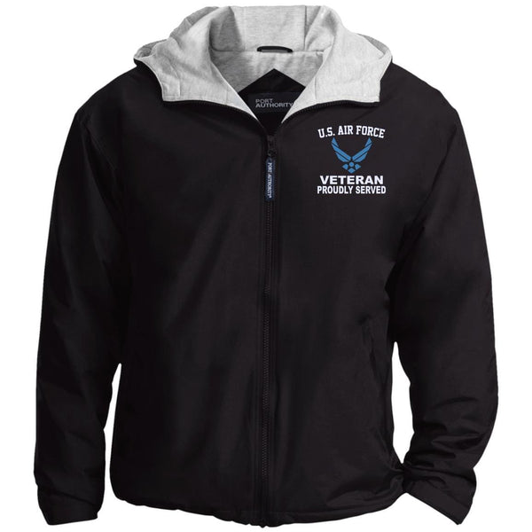 US Air Force Logo Veteran Embroidered Port Authority® Hoodie Team Jacket
