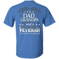 I am Dad Grandpa And A Veteran - Men Back T Shirt