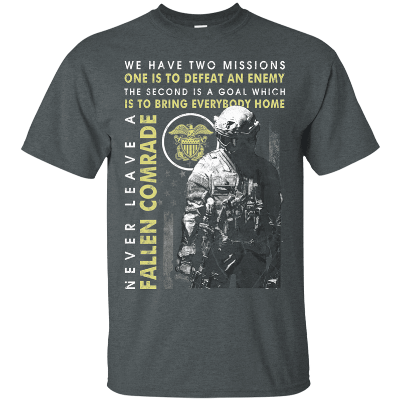 Never Leave A Fallen Comrade Navy Men Front T Shirts