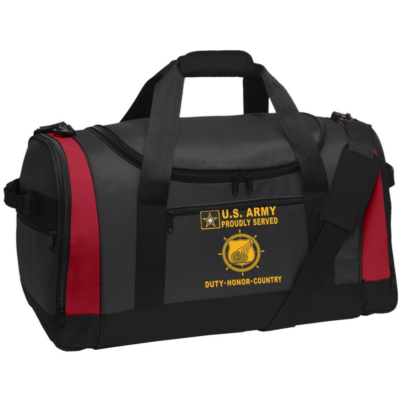 US Army Transportation Corps - Proudly Served-D04 Embroidered Duffel Bag