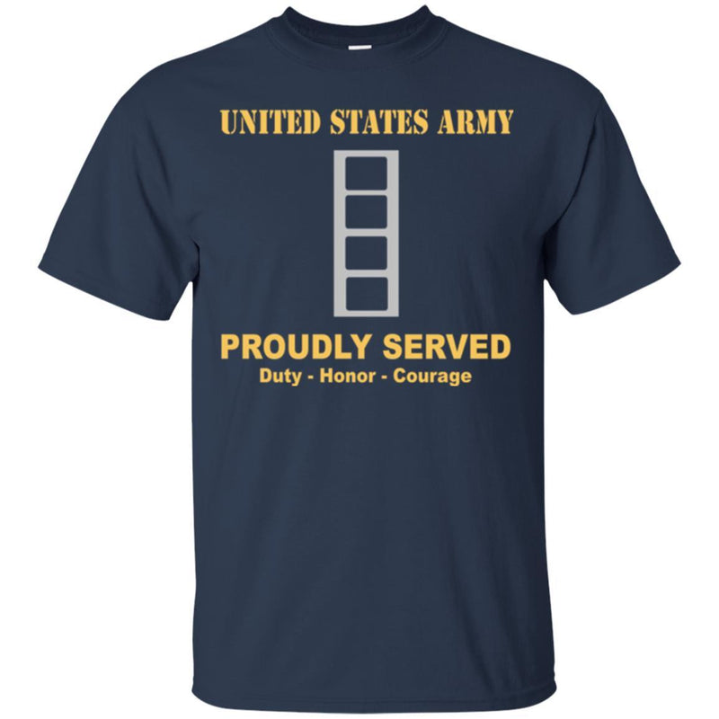 US Army W-4 Chief Warrant Officer 4 W4 CW4 Warrant Officer Ranks Men Front Shirt US Army Rank