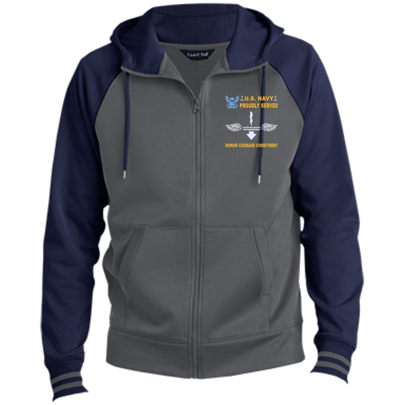 US Navy Antisubmarine Warfare Technician AX - Proudly Served-D04 Embroidered Sport-Tek® Full-Zip Hooded Jacket