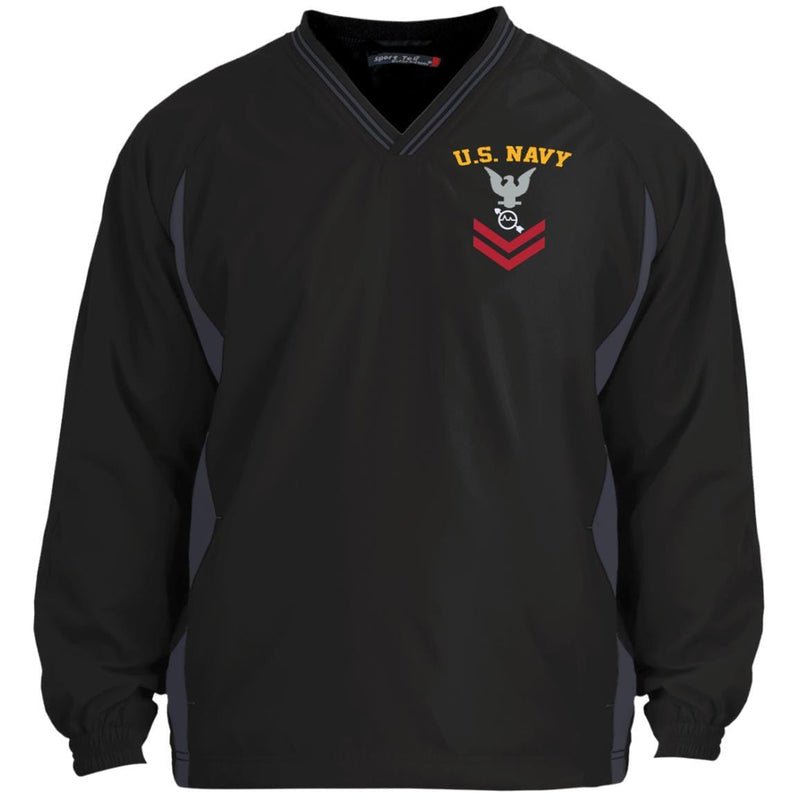 US Navy Operations Specialist OS.png E-5 Rating Badges Embroidered Sport-Tek Tipped V-Neck Windshirt