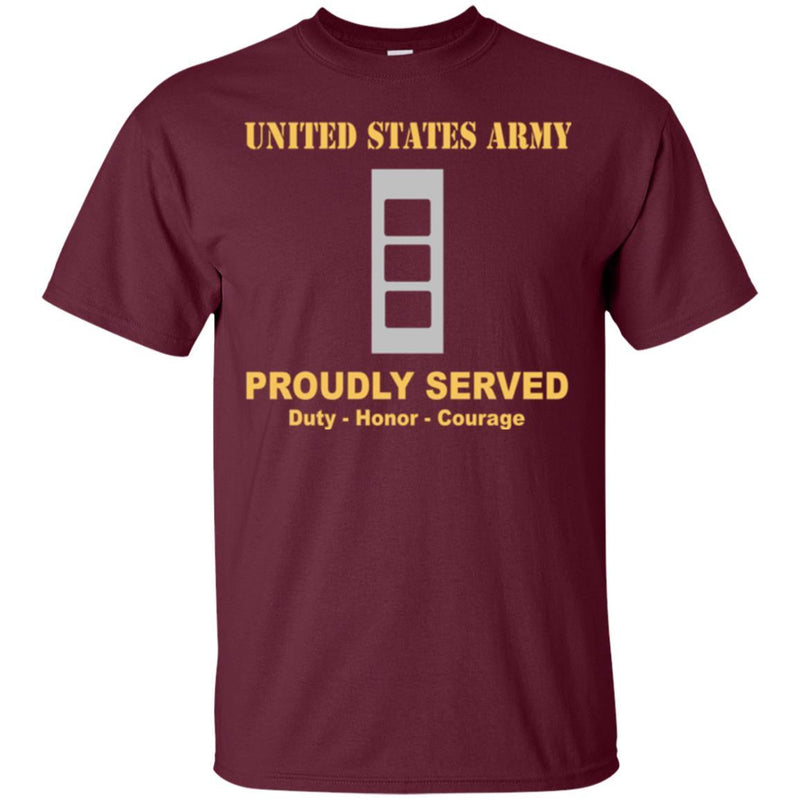 US Army W-3 Chief Warrant Officer 3 W3 CW3 Warrant Officer Ranks Men Front Shirt US Army Rank