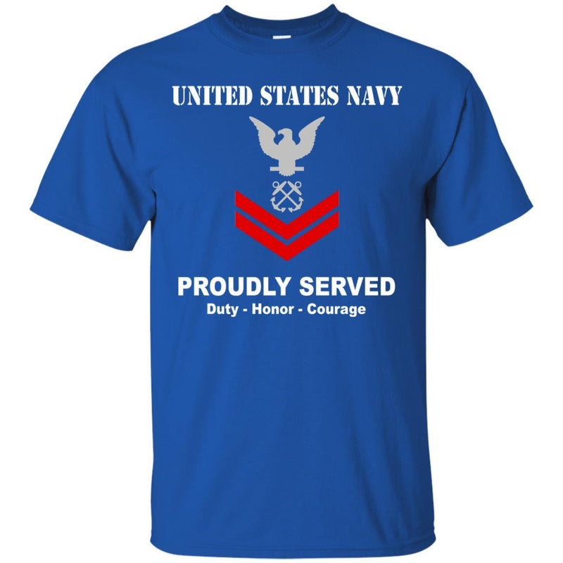 US Navy E-5 Petty Officer Second Class E5 PO2 Noncommissioned Officer Ranks T shirt Men Front - T Shirts For Navy Ranks