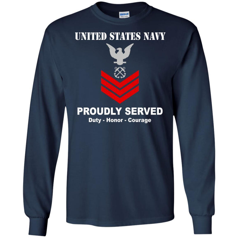 US Navy E-6 Petty Officer First Class E6 PO1 Noncommissioned Officer Ranks T shirt Men Front - T Shirts For Navy Ranks